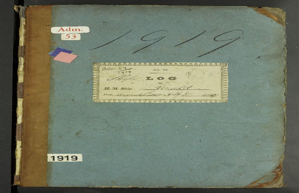Image of page from logbook http://data.ceda.ac.uk/badc/corral/images/adm53_medium/p1919/med_adm53_p1919_001.jpg