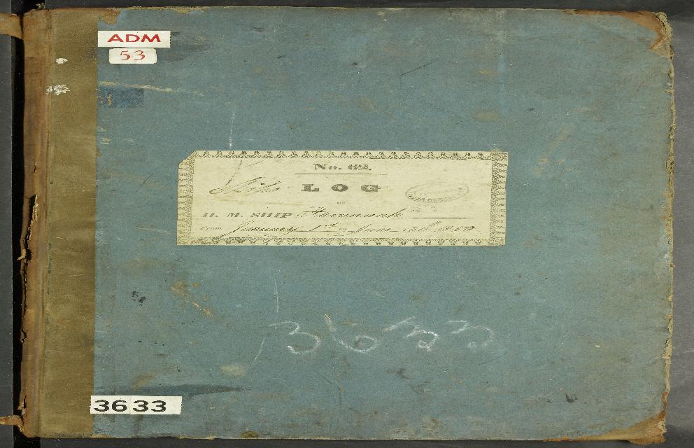 Image of page from logbook http://data.ceda.ac.uk/badc/corral/images/adm53_medium/p3633/med_adm53_p3633_001.jpg