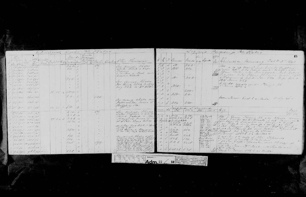 Image of page from logbook http://data.ceda.ac.uk/badc/corral/images/adm55_medium/log050/med_adm55_log050_page046.jpg