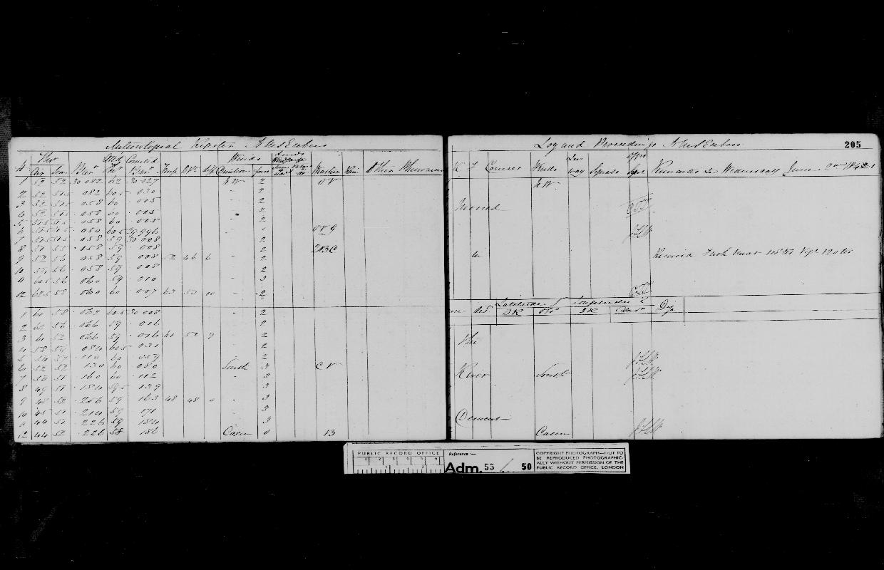 Image of page from logbook http://data.ceda.ac.uk/badc/corral/images/adm55_medium/log050/med_adm55_log050_page187.jpg