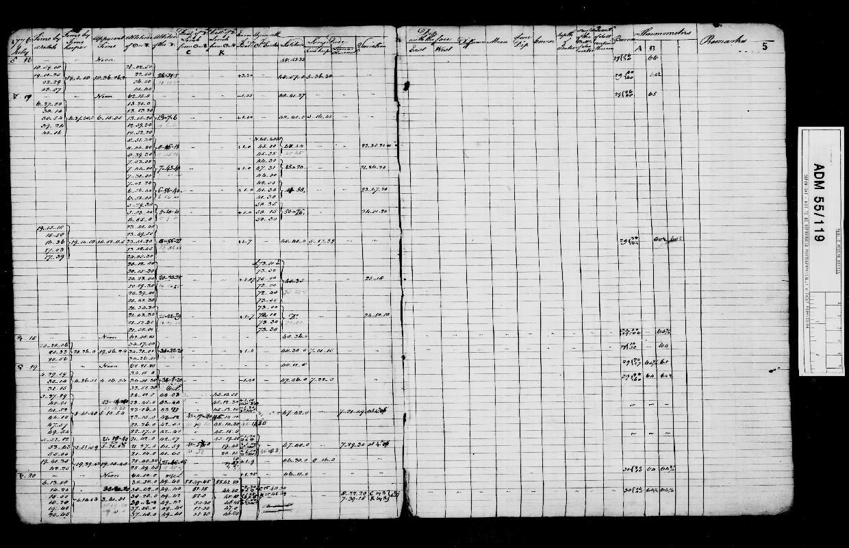 Image of page from logbook http://data.ceda.ac.uk/badc/corral/images/adm55_medium/log119/med_adm55_log119_page007.jpg