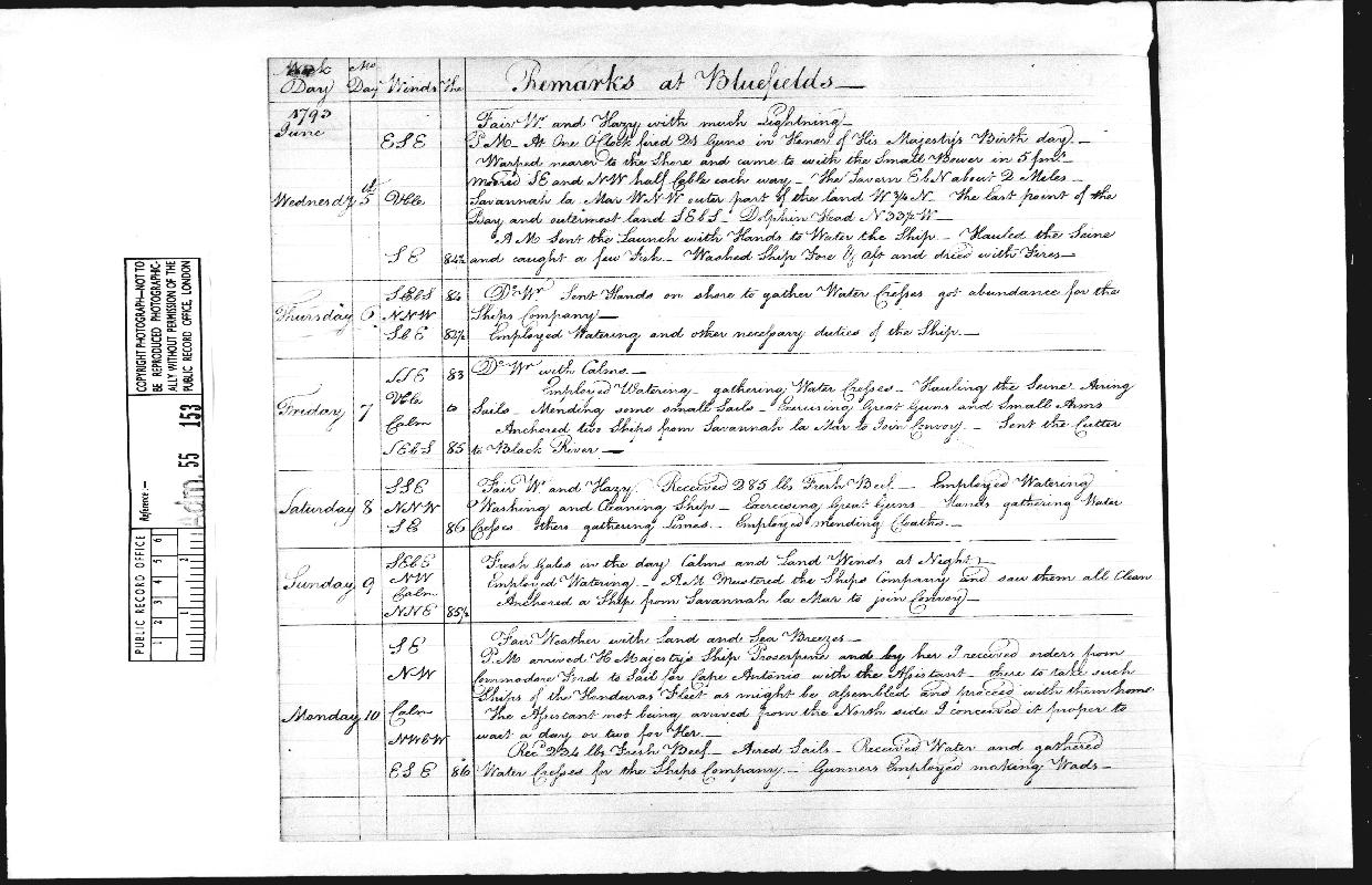 Image of page from logbook http://data.ceda.ac.uk/badc/corral/images/adm55_medium/log153/med_adm55_log153_page205.jpg